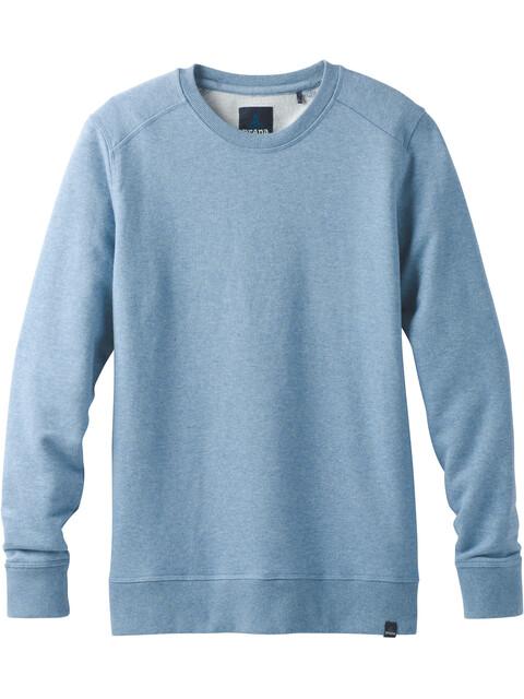 Prana M's Asbury LS Crew Shirt Sunbleached Blue Heather